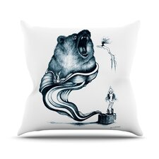 Hot Tub Hunter Throw Pillow