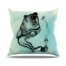Hot Tub Hunter III Throw Pillow