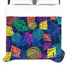 """""""African Beat Blue"""" Woven Comforter Duvet Cover"""
