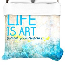 Life Is Art Duvet
