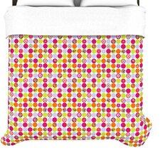 """Happy Circles"" Woven Comforter Duvet Cover"