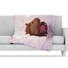The Happy Hippo Fleece Throw Blanket