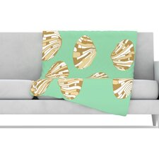 Scallop Shells Fleece Throw Blanket