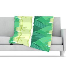 Leeks Fleece Throw Blanket