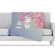 Life Is Beautiful Fleece Throw Blanket