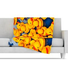 <strong>KESS InHouse</strong> Duckies Fleece Throw Blanket