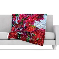 Bougainvillea Fleece Throw Blanket