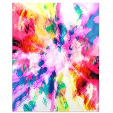 Technicolor Clouds by Caleb Troy Painting Print Plaque
