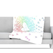 <strong>KESS InHouse</strong> Rainbow Hearts Fleece Throw Blanket