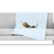 Squirrel Fleece Throw Blanket