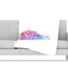 <strong>KESS InHouse</strong> Rainbow Lion Fleece Throw Blanket