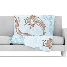<strong>KESS InHouse</strong> Koi Fleece Throw Blanket