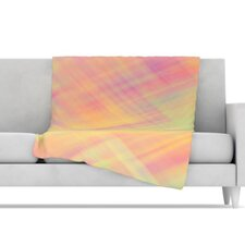 Pastel Abstract Microfiber Fleece Throw Blanket