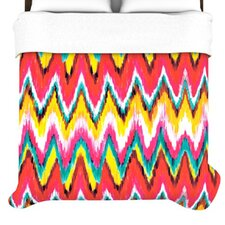 """Painted Chevron"" Woven Comforter Duvet Cover"