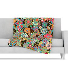 My Butterflies and Flowers Microfiber Fleece Throw Blanket