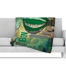 Boston Microfiber Fleece Throw Blanket