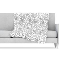 <strong>KESS InHouse</strong> Flowers Microfiber Fleece Throw Blanket