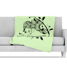Foxy Buns Microfiber Fleece Throw Blanket