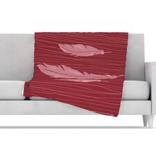 Feathers Microfiber Fleece Throw Blanket