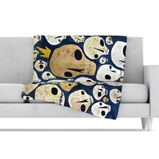 <strong>KESS InHouse</strong> Skulls Microfiber Fleece Throw Blanket