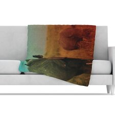 Abstract Rhino Microfiber Fleece Throw Blanket