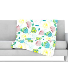 Indie Floral Microfiber Fleece Throw Blanket