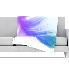 Feather Microfiber Fleece Throw Blanket