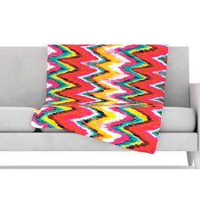Painted Chevron Microfiber Fleece Throw Blanket