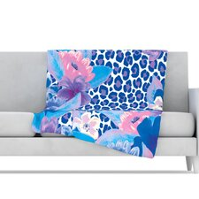 Leopard Microfiber Fleece Throw Blanket