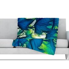 Leaves Microfiber Fleece Throw Blanket