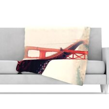 Golden Gate Microfiber Fleece Throw Blanket