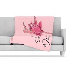<strong>KESS InHouse</strong> Ballerina Microfiber Fleece Throw Blanket
