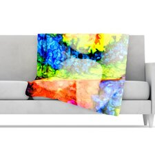 Rainbow Splatter Microfiber Fleece Throw Blanket