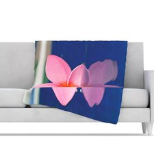 Plumeria Microfiber Fleece Throw Blanket