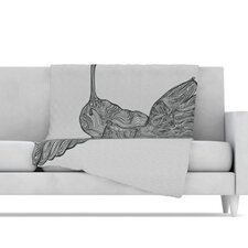 Hummingbird Microfiber Fleece Throw Blanket