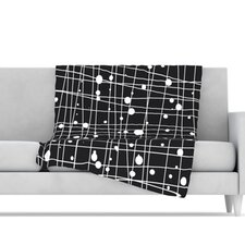 Woven Web Mono Microfiber Fleece Throw Blanket