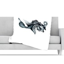 Swan Horns Microfiber Fleece Throw Blanket