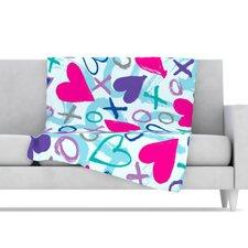 Hearts A Flutter Microfiber Fleece Throw Blanket