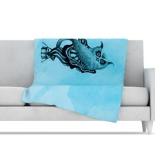 Owl III Microfiber Fleece Throw Blanket