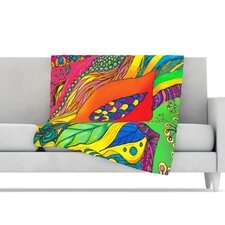Psycho-Delic Dan Microfiber Fleece Throw Blanket
