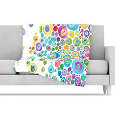 Inner Circle Microfiber Fleece Throw Blanket