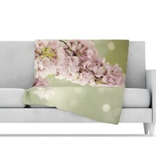 Blossom Microfiber Fleece Throw Blanket