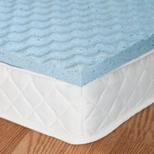 """OrthoTherapy 1.5"""" MyGel® Gel Memory Foam Comfort Curve Topper"""