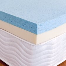 "OrthoTherapy 4"" Dual Support Gel Memory Foam Topper"