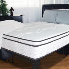 "<strong>Sleep Revolution</strong> 11"" Memory Foam / Coil Mattress and Steel Foundation Set"