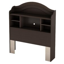 <strong>South Shore</strong> Summer Breeze Chocolate Bookcase Headboard
