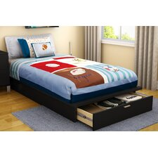 Twin Platform Bed with Storage I