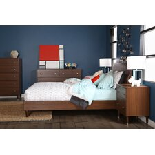 Olly Mid-Century Modern Queen Platform Bedroom Collection