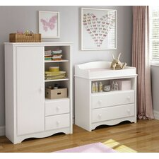 Heavenly Changing Table and Armoire with Drawers