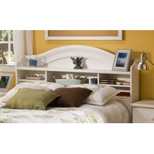 Summer Breeze White Wash Bookcase Headboard